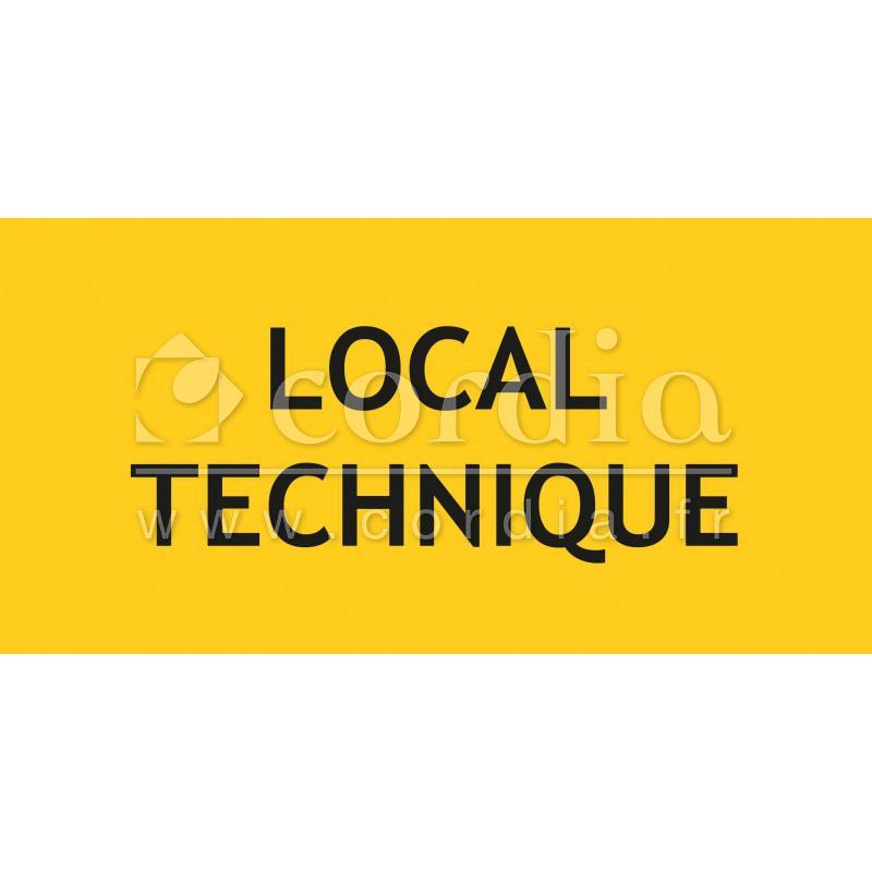 Panneaux x mm signalisation sp cifique for Local technique electrique