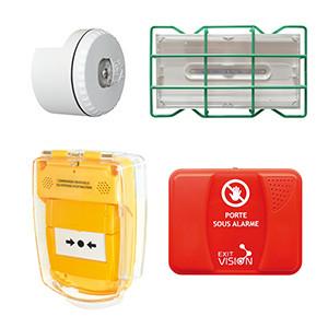 Périphériques pour équipements d'alarme